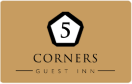 An image labelled 5 Corners Guest Inn Logo