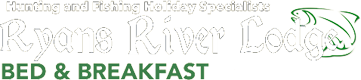 An image labelled Ryan's River Lodge B&B Logo