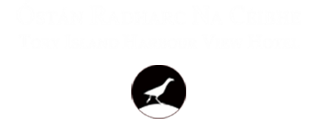 An image labelled Tory Island Harbour View Hotel Logo