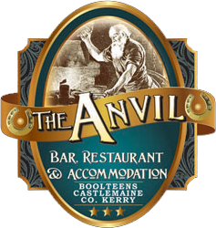 An image labelled The Anvil Bar, Restaurant & Accommodation Logo