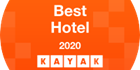 An image labelled Kayak best hotel 2020