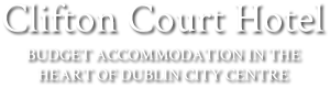 An image labelled Clifton Court Hotel Dublin Logo