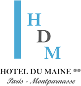 An image labelled Hôtel Du Maine Logo