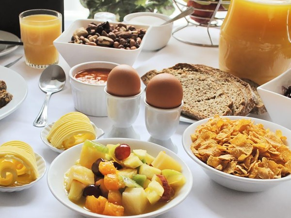 An image labelled Breakfast